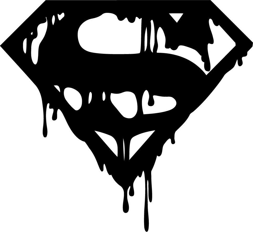 Superman Death of Bloody Logo Die Cut Vinyl Sticker Decal