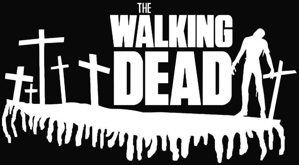 The Walking Dead Zombie Graveyard | Die Cut Vinyl Sticker Decal | Sticky Addiction