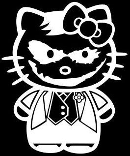 Joker Decal Hello Kitty Sticker