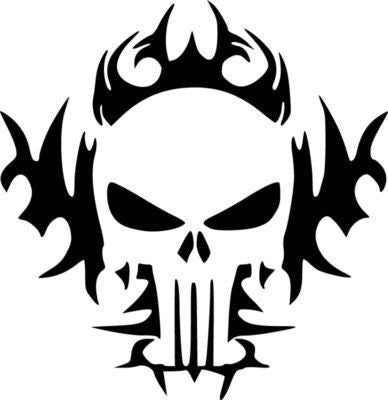 The Punisher Tribal Skull  | Die Cut Vinyl Sticker Decal | Sticky Addiction