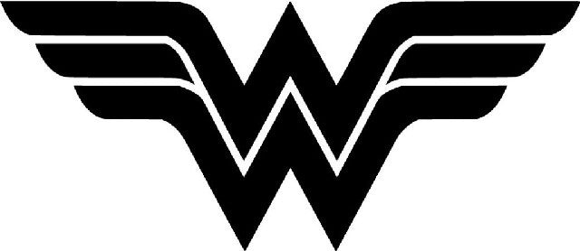 Wonder woman logo die cut vinyl sticker decal sticky addiction