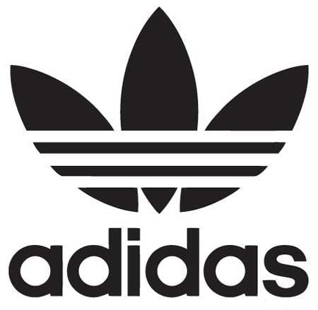 Adidas logo die cut vinyl sticker decal