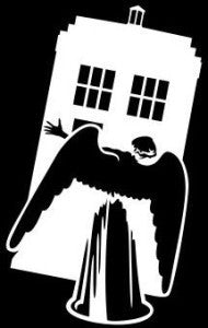 Doctor Who Angel Tardis | Die Cut Vinyl Sticker Decal | Sticky Addiction