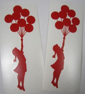 Banksy Balloon Girl x2 | Die Cut Vinyl Sticker Decal | Sticky Addiction