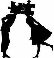 Banksy Puzzled Couple | Die Cut Vinyl Sticker Decal | Sticky Addiction