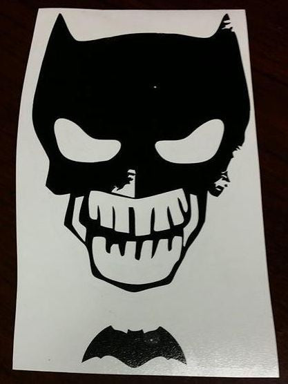 Batman Death Of Zombie Skull | Die Cut Vinyl Sticker Decal
