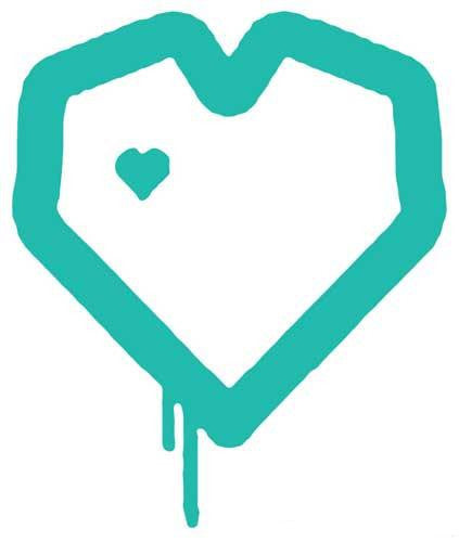 Blueprint Skateboards Heart | Die Cut Vinyl Sticker Decal | Sticky Addiction