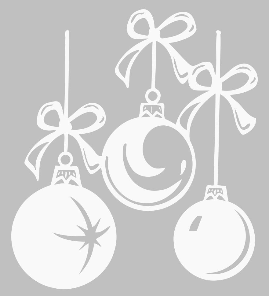 Christmas Tree Ornaments | Die Cut Vinyl Sticker Decal