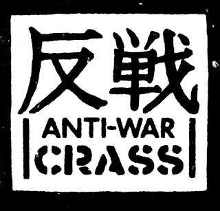 Crass Anti War | Die Cut Vinyl Sticker Decal | Sticky Addiction