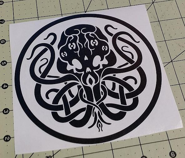 Cthulhu Lovecraft Horror Space Monster Clulu | Die Cut Vinyl Sticker Decal | Blasted Rat