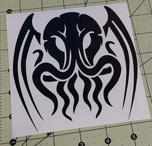 Cthulhu Lovecraft Horror Space Monster Clooloo | Die Cut Vinyl Sticker Decal | Blasted Rat