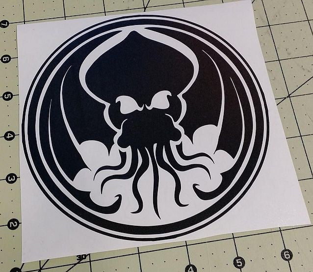 Cthulhu Lovecraft Horror Space Monster Tulu | Die Cut Vinyl Sticker Decal | Blasted Rat