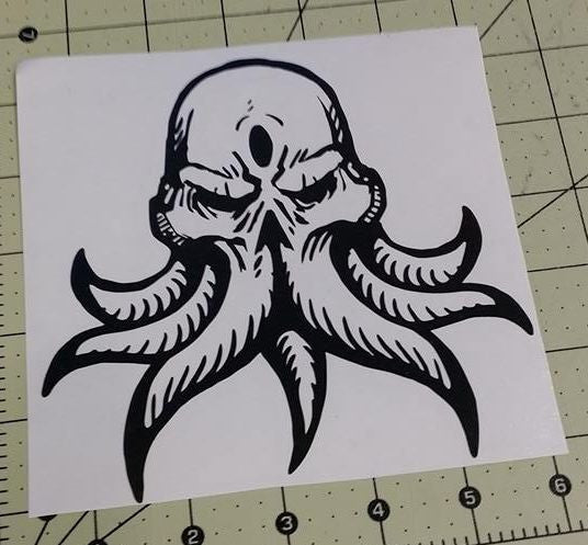 Cthulhu Lovecraft Horror Space Monster | Die Cut Vinyl Sticker Decal | Blasted Rat