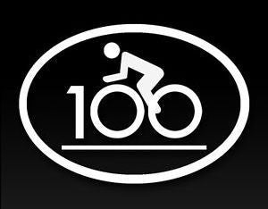 Cycling 100 | Die Cut Vinyl Sticker Decal Sticker | Sticky Addiction