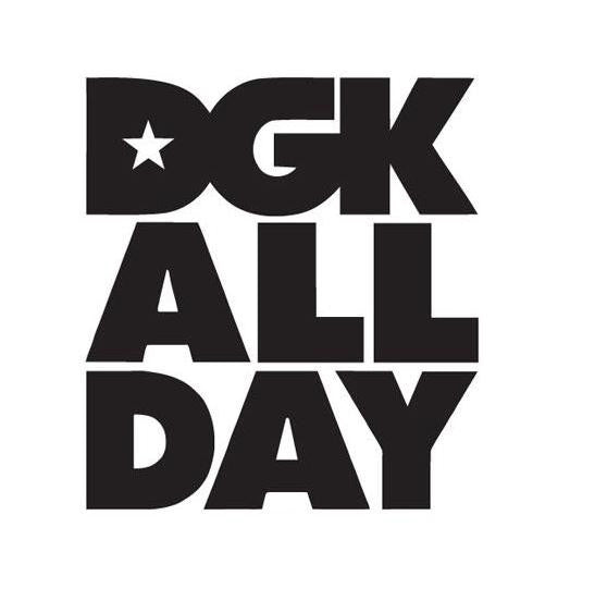 DGK All Day Logo | Die Cut Vinyl Sticker Decal | Sticky Addiction