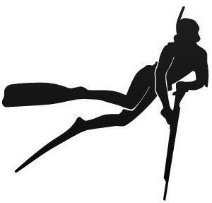 Diver wih speargun - Die Cut Vinyl Sticker Decal
