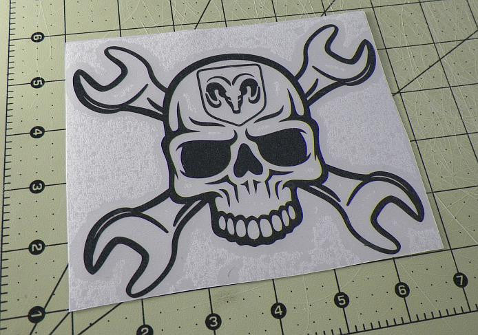 Dodge Skull Wrench | Die Cut Vinyl Sticker Decal | Sticky Addiction