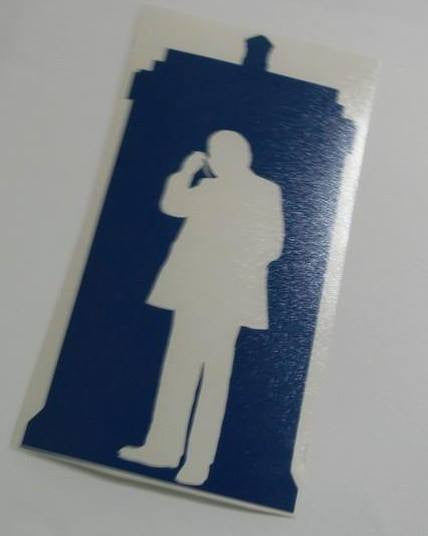 Dr Who 1st Doctor Tardis | Die Cut Vinyl Sticker Decal