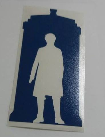 Dr Who 8th Doctor Tardis | Die Cut Vinyl Sticker Decal
