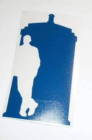 Dr Who 9th Doctor Tardis | Die Cut Vinyl Sticker Decal