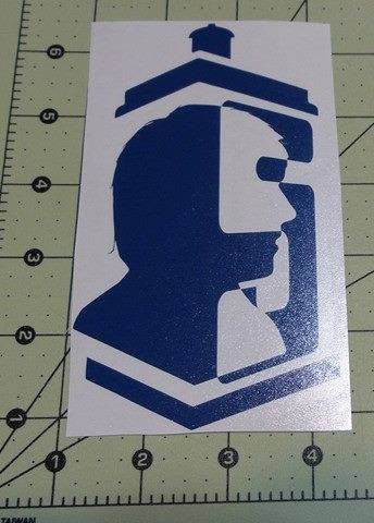 Dr Who 5th Doctor | Die Cut Vinyl Sticker Decal