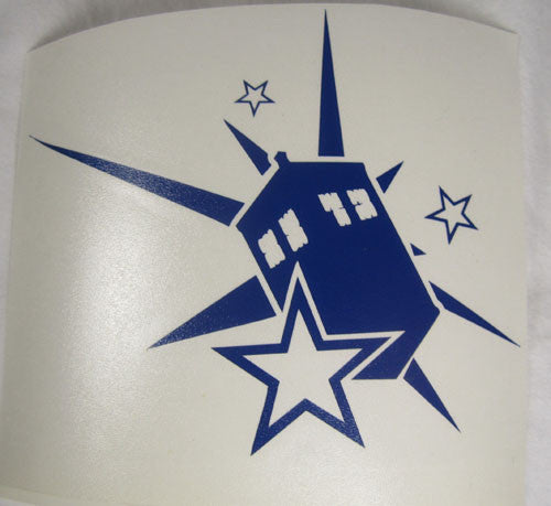 Dr Who Tardis Exploding Star  | Die Cut Vinyl Sticker Decal | Sticky Addiction