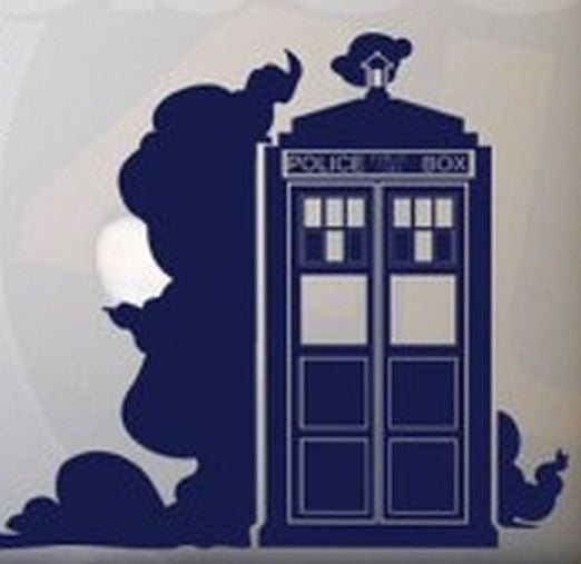 Doctor Who Tardis Fog | Die Cut Vinyl Sticker Decal | Sticky Addiction