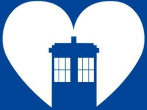 Doctor Who Tardis in Heart | Die Cut Vinyl Sticker Decal | Sticky Addiction