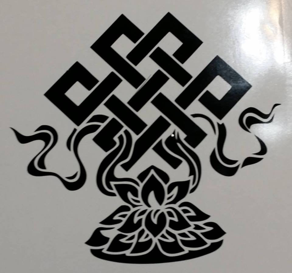 Endless Knot Eternal Tibet Buddhism Spirituality | Die Cut Vinyl Sticker Decal | Sticky Addiction