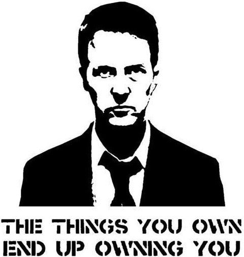 Fight Club Tyler Durden The Things You Own End Up Owning You | Die Cut Vinyl Sticker Decal | Sticky Addiction