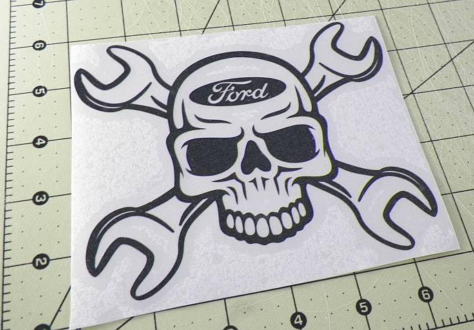 Ford Skull Wrench | Die Cut Vinyl Sticker Decal | Sticky Addiction
