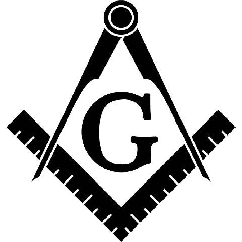 Freemason Calipers Ruler Sign | Die Cut Vinyl Sticker Decal | Sticky Addiction