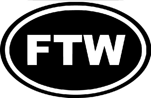 Ftw for the win sign die cut vinyl sticker decal sticky addiction