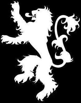 House Lannister Logo, Game of Thrones  - Die Cut Vinyl Sticker Decal