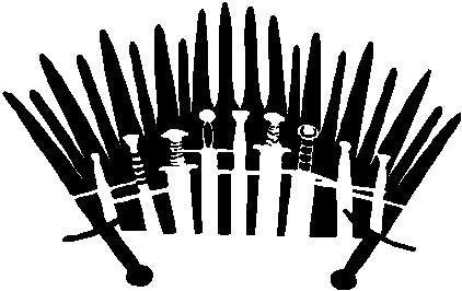 The Iron Throne, Game of Thrones  - Die Cut Vinyl Sticker Decal