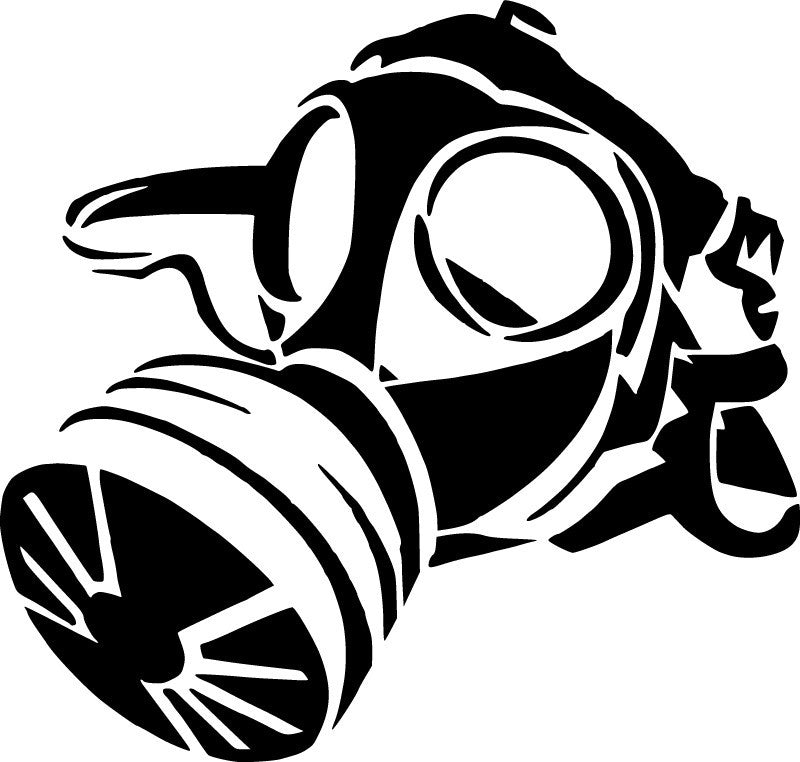 Gas Mask | Die Cut Vinyl Sticker Decal | Sticky Addiction