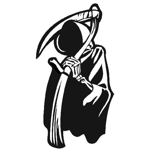 Grim Reaper Scythe | Die Cut Vinyl Sticker Decal | Sticky Addiction