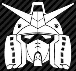 Gundam head - Die Cut Vinyl Sticker Decal