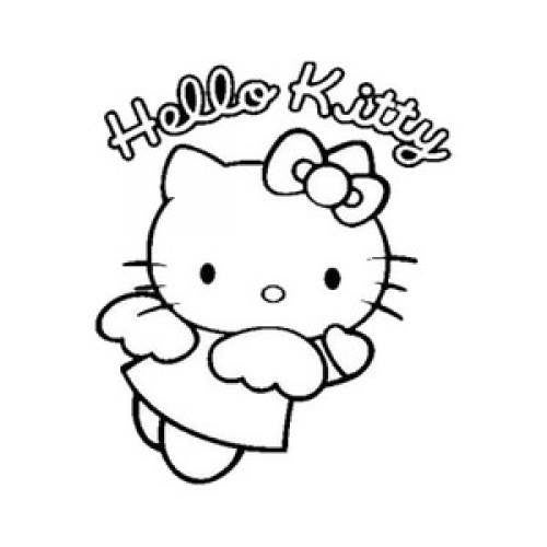 Hello Kitty Angel With Wings Die Cut Vinyl Sticker Decal