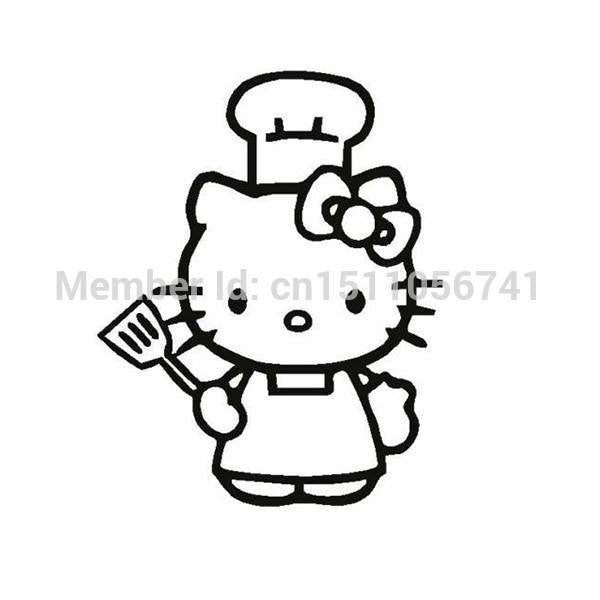 Hello Kitty Cook Die Cut Vinyl Sticker Decal