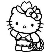 Hello Kitty Cowgirl Die Cut Vinyl Sticker Decal