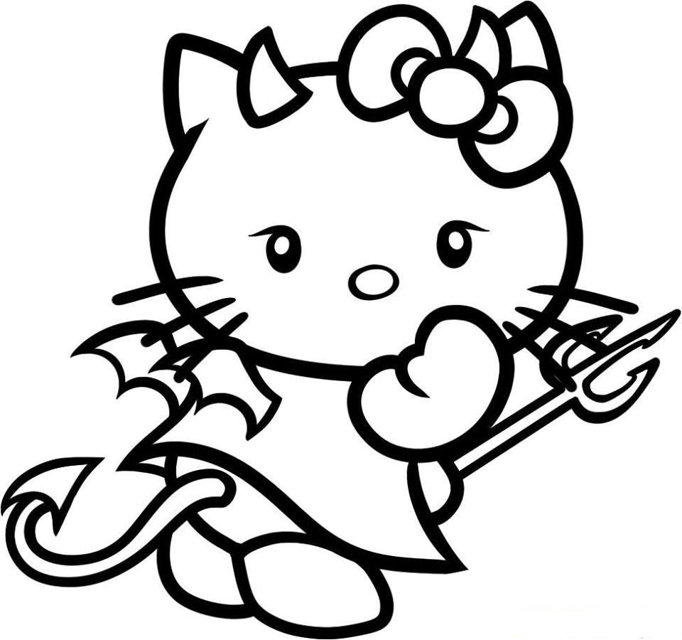 Hello Kitty Devil Girl Die Cut Vinyl Sticker Decal