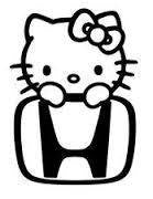 Hello Kitty Honda Die Cut Vinyl Sticker Decal