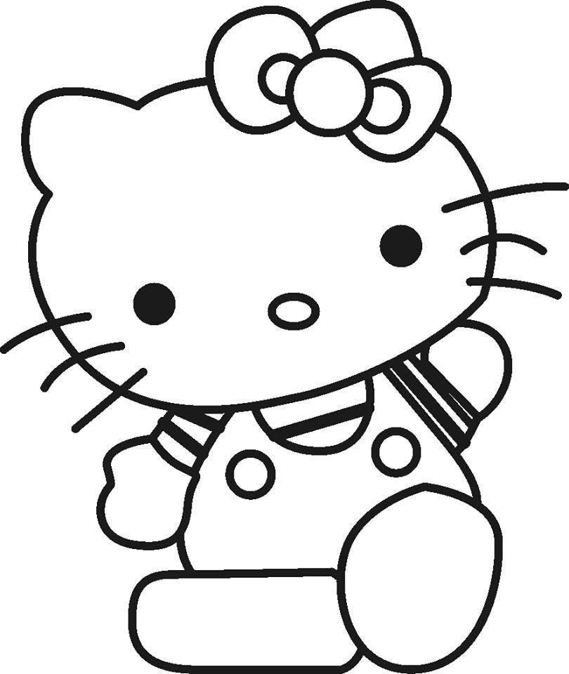 Hello Kitty In Striped T-shirt Die Cut Vinyl Sticker Decal