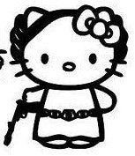 Hello Kitty Princess Leia Starwars Die Cut Vinyl Sticker Decal