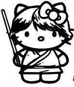 Hello Kitty Luke Skywalker Jedi Starwars Die Cut Vinyl Sticker Decal