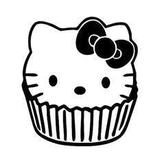 Hello Kitty Muffin Die Cut Vinyl Sticker Decal