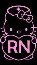Hello Kitty Nurse Die Cut Vinyl Sticker Decal