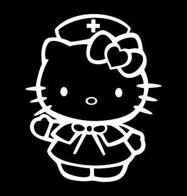 Hello Kitty Nurse Medic Die Cut Vinyl Sticker Decal