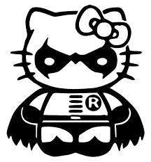 Hello Kitty Robin Batman Die Cut Vinyl Sticker Decal
